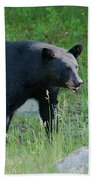 Black Bear Female Beach Towel