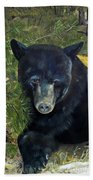 Bear Painting - Scruffy - Profile Cropped Beach Towel