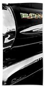 Black Bonneville Beach Towel