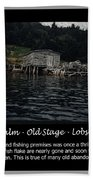 Black Calm - Old Stage - Lobster Pots Beach Towel