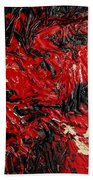 Black Cracks With Red Beach Towel