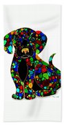 Black Dog 2 Beach Towel