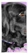 Black Dog Pretty In Lavender Beach Towel