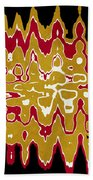 Black Gold Abstract Beach Towel