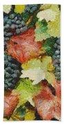 Black Grapes Beach Towel