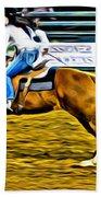Black Hatted Racer Beach Towel