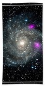 Black Holes In Spiral Galaxy Nasa Beach Towel by Rose Santuci-Sofranko
