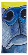 Black Lab Nose Beach Towel by Roger Wedegis