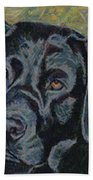 Black Labrador Beach Towel