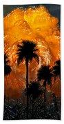Black Palms At Dusk Beach Towel