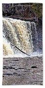 Black River Falls Beach Towel