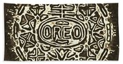 Black Sepia Oreo Beach Towel