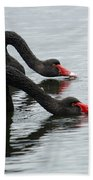 Black Swans Australia Beach Towel