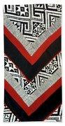 Black Thai Fabric 01 Beach Towel