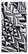 Black Thai Fabric 03 Beach Towel