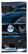 Black Truefiber Mustang Beach Towel