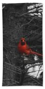 Black White And Red Beach Towel