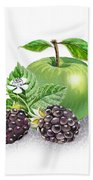 Blackberries And Green Apple Beach Towel