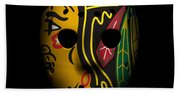 Blackhawks Goalie Mask Beach Towel