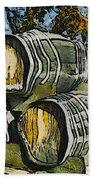 Blackjack Winery Wine Barrels Beach Towel