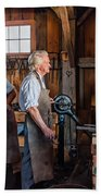 Blacksmith And Apprentice 2 Beach Towel by Steve Harrington