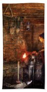 Blacksmith - Cooking With The Smith's  Beach Towel by Mike Savad