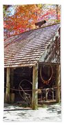 Blacksmith Shop In The Fall Beach Towel