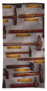 Blacksmith - Tools - Pounding Headache  Beach Towel