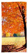 Blazing Tree Beach Towel