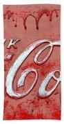 Bleeding Coke Red Beach Towel