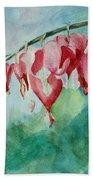 Bleeding Hearts Beach Towel