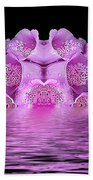 Bleeding Violet 2 Beach Towel