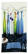 Blenko Glass Bottles Beach Sheet