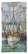 Blessing Of The Tuna Fleet At Groix Beach Towel