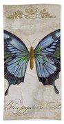 Bleu Papillon-a Beach Towel
