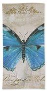 Bleu Papillon-b Beach Towel