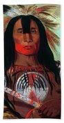 Blood Head Chief, 1832 Beach Towel