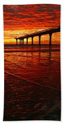 Blood Red Dawn Beach Towel