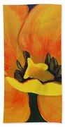 Bloomed Yellow Tulip Beach Towel