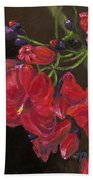 Bloomin' Red Beach Towel