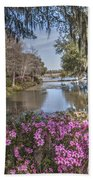 Blooming Azaleias At Middleton Place Plantation Beach Towel