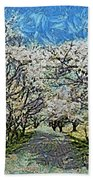 Blooming Cherry Tree Avenue Beach Towel