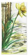 Blooming Daffodil Beach Towel