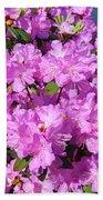Blooming Pink Azaleas Beach Towel