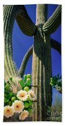 Blooming Saguaro Beach Towel