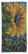 Blooming Sunflower Beach Towel