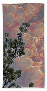 Blooming Tree And Sky Beach Towel
