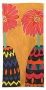 Blooms In Native Dress Beach Towel