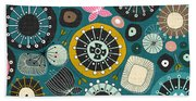 Blooms Teal Beach Towel