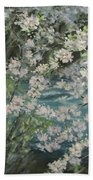 Blossoming River Beach Towel